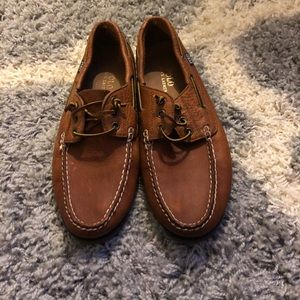 Men's polo boat shoes